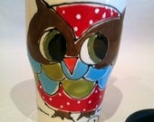Red Hoot Owl Travel Mug - Live the life you dream