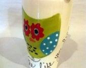 Travel Mug Hoot Owl with Handle