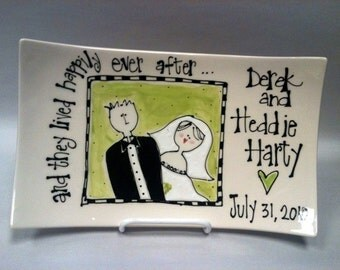 Wedding Plate Personalized in Lime