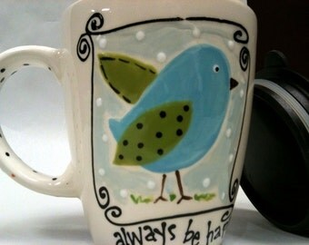 Tweet Travel Mug  by Kimberly Geiger