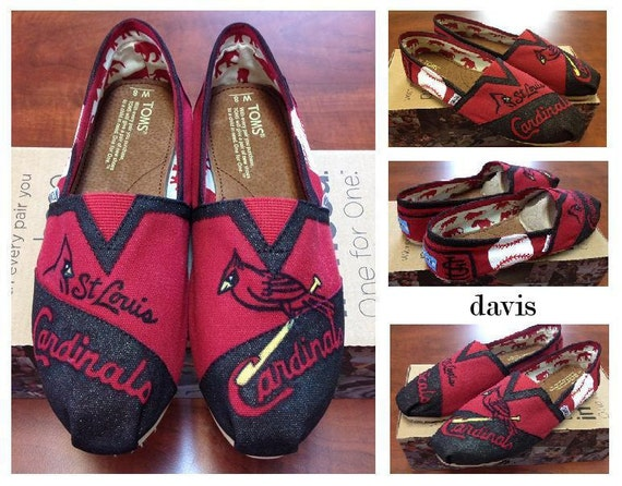 Custom Hand Painted St. Louis Cardinals Baseball TOMS Shoes