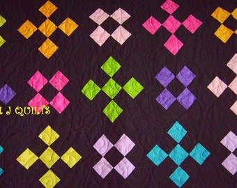 """Spectactular Eleanor Burns Design """"Night Glow"""" 92"""" X 106"""" Handmade Quilt-Patchwork Quilt- MJ Quilts- Made in USA-Free Shipping"""