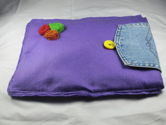 Felt purple notebook case with jean fabric-requests accepted on size,color,style e.t.c