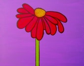 Whimsical Daisy Art Card Blank