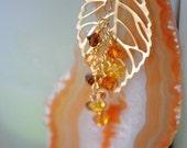 Orange Agate Slice Necklace