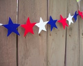 Ready-to-ship Red, White and Blue Star Garland