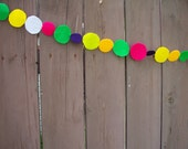 Ready-to-ship Brightly colored felt garland