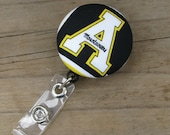ASU Appalachian State Mountaineers Retractable ID Badge Reel