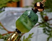 "Jade Wood Shawl Pin Hair Stick  - ""Sticks and Stones"""