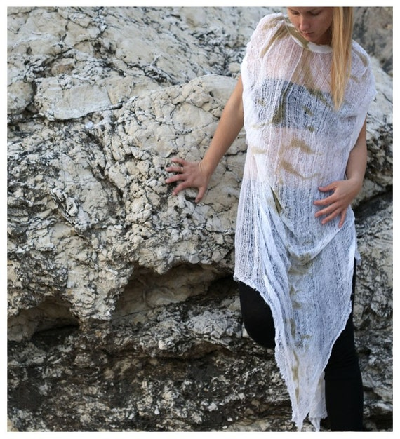 SALE. Hand dyed and shredded dress.