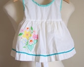vintage baby pinafore sundress
