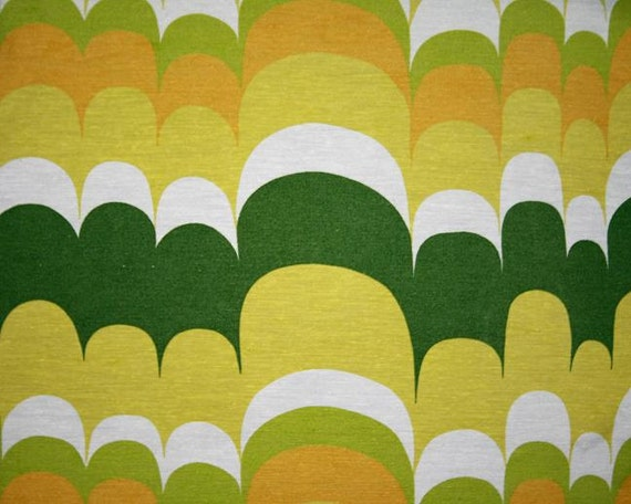 vintage fabric - retro lime, apple, mustard and forest green - fat quarter
