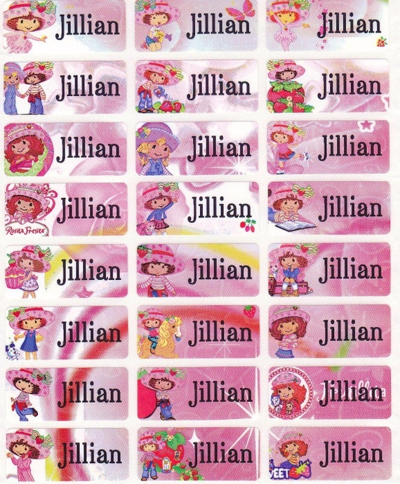 72 PINKY GIRL Custom Waterproof Name Labels-School,Daycare,Envelope Seal,Sippy Cup,Lunch Box,Allergic Label,Water Bottle,Summer Camp