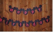 Mickey/Minnie Mouse Birthday Banner