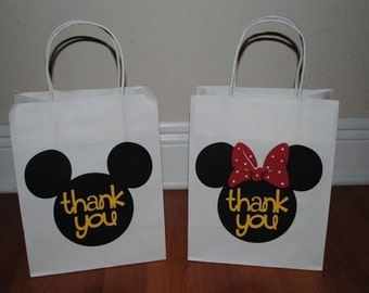 Mickey/Minnie Favor Bags-Medium Size Bags