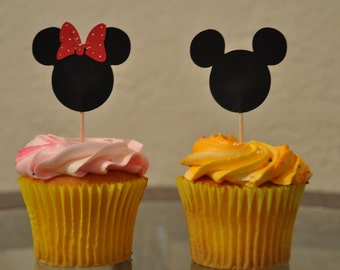 Mickey/Minnie Cupcake Toppers Set of 24