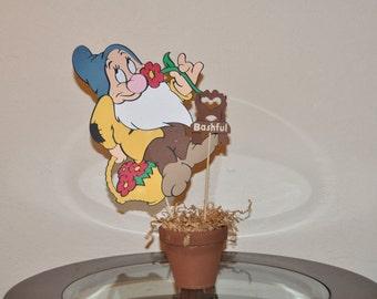 Snow White and the 7 Dwarfs- BASHFUL Centerpiece