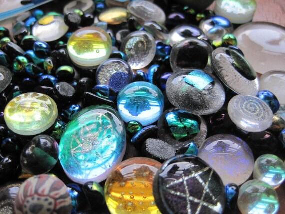 Big Ol' Bag of Dichroic Glass Cabochons