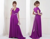 Two Tone Convertible/Infinity Dress - Floor Length
