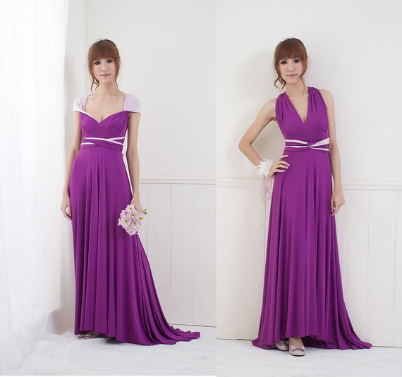 Reserved for Sarah (NowTheMoon) - 3 Two-Tone Convertible/Infinity Dresses and 3 Tube Tops (down payment)