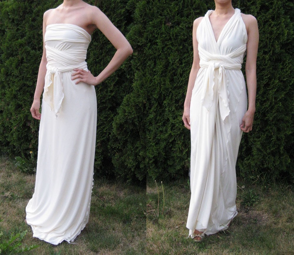Bamboo Jersey Grecian Wrap Dress / Wedding Dress