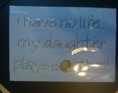 Discontinued/sale I Have No Life My Daughter Plays Softball Rhinestone Heat Transfer-DIY