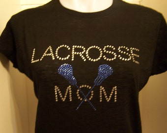 Lacrosse Mom Bling Rhinestone Transfer-DIY