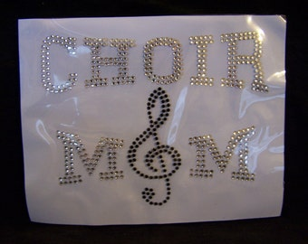 Choir Mom Crystal Rhinestone Heat Transfer DIY