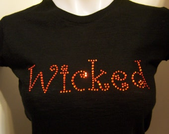 Halloween Rhinestud Heat Transfer Wicked DIY