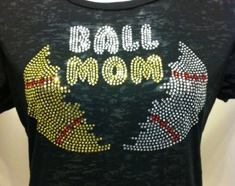 Discontinued/sale Baseball Softball Mom Rhinestone Heat Transfer- DIY