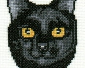 Black Cat counted cross-stitch chart