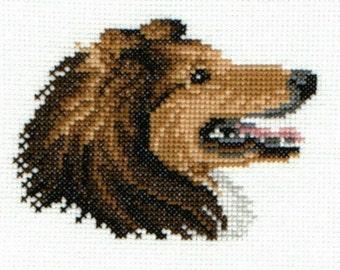 Sheltie counted cross-stitch chart