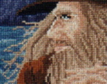 Young Wizard By The Sea counted cross-stitch chart