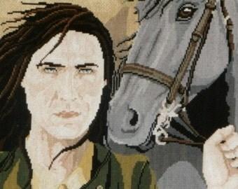 Man With Horse Cross Stitch Chart