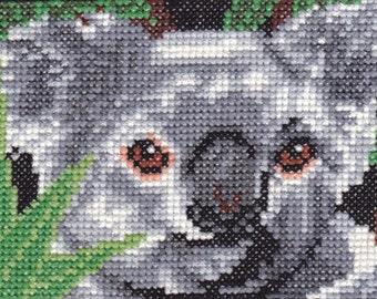 Koala counted cross-stitch chart