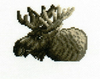 Moose counted cross-stitch design