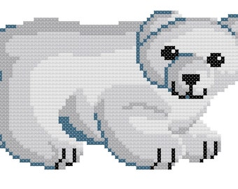 Baby Polar Bear counted cross-stitch chart