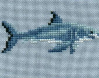 Great White Shark 4 cross stitch chart