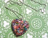 Sprinkles Heart Necklace