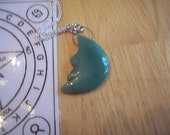 Green aventurine pendulum necklace and chart