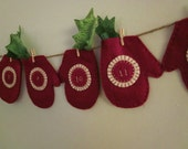 Reserved Listing for Jennifer - Cranberry Mitten 12 Day Advent