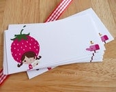 Strawberry Girl Sending You Love Label Stickers