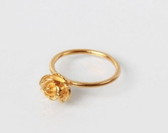 Classic Gold Plated Rose Ring