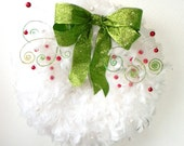 Curly Berry Chucks Cousin- The Christmas Feather Wreath