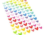 Heart Shaped Stickers - 7 sheets