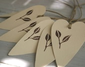 Heart Shaped Gift Tags - Blueberry Leaves