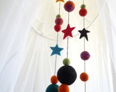 Starry Night Felt Baby Mobile
