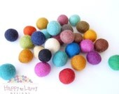 Lolly Bag Small Felt Balls