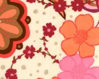 Designer Flannel Fabric, Valori Wells Fabric, Urban Flannel Collection, Medallion in Pink, 1 Yard