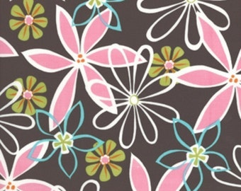 Michael Miller Fabric-Daisy Dreams in Brown-1 Yard